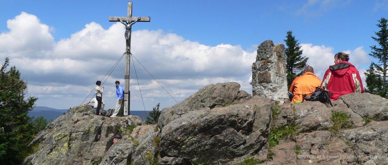 Gipfelkreuz am Rachel Berg im Nationalpark