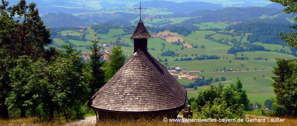 Bayerischer Wald Urlaub buchen - Ausflugsziel Kapelle am Haidel Berg bei Grainet
