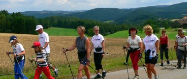 activity holiday Bavarian Forest nordic walking sports